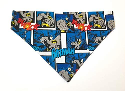 DC Comic Batman Print Dog Bandana Slip Through, Over the collar, No-Tie