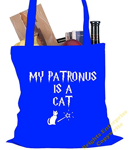 Size Tote bag original our the unique Beach Potter 42 reuseable An Bag Shopping litres range cat with Harry Gym a wording tote My is Patronus 10 Blue 38 cm stockin Christmas or 14 from x Birthday pgpZrYA