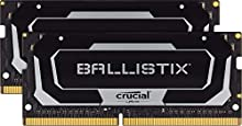 Crucial Ballistix BL2K16G32C16S4B 3200 MHz, DDR4, DRAM, Memoria Gamer Kit para Ordenadores portátiles, 32GB (16GB x2), CL16, Negro