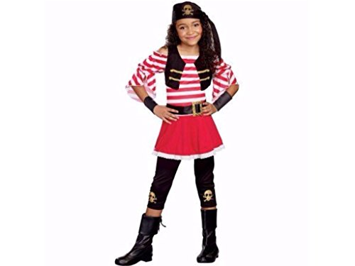 Girls Pretty Plundered 4 Piece Set Pirate Halloween Costume Size Small (4-6) - 4 Piece Cropped Costumes