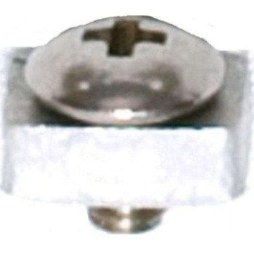 RECMAR Curtain Track Steel End Stop - Silver