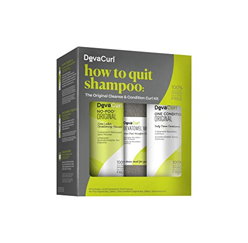 (DevaCurl How to Quit Shampoo, Cleanse & Condition Kit)