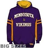 NFL Minnesota Vikings Pumped Big Sizes Hoodie Sweatshirt - Purple (XXXXX-Large)