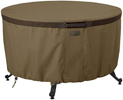 Classic Accessories Hickory Round Fire Table Cover