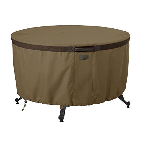 Classic Accessories Hickory Heavy Duty 42'' Round Fire Pit Table Cover - Durable and Water Resistant Patio Cover (55-634-240101-EC) by Classic Accessories