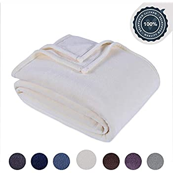 Berkshire Blanket Original Serasoft Bed Plush Blanket, King, Cream