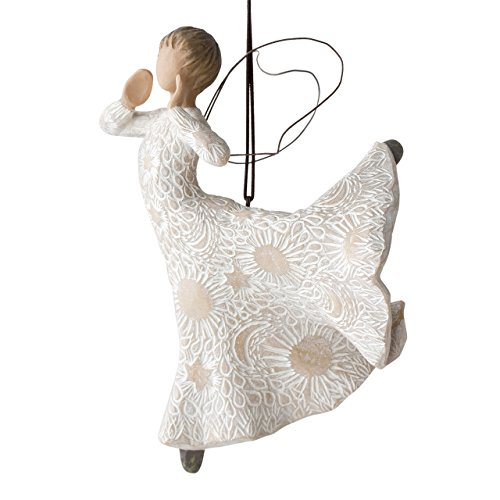 Willow Tree hand-painted sculpted Ornament, Song of Joy