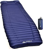 """IFORREST Sleeping Pad with Armrest & Pillow - Rollover Protection - 4"""" Extra Thick Camping and Hiking"""