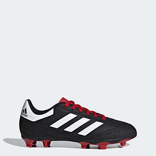adidas Baby Goletto VI Firm Ground Football Shoe, Black/White/Scarlet, 10K M US Toddler (Adidas Shoes Of Soccer)