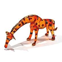 Handmade Giraffe Art Glass Blown Wild Animal Figurine - No.3
