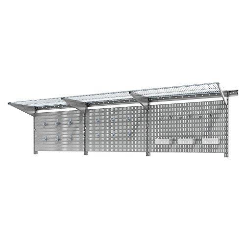 Allspace 38Piece Wall Organizer Pegboard Accessory Set Utility Wall Organization Kit 38PCWallmountGaragePegboard - 450076HF