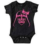 Pink Darth Vader Cute Star Wars Yoda Han Solo Luke Romper Bodysuit