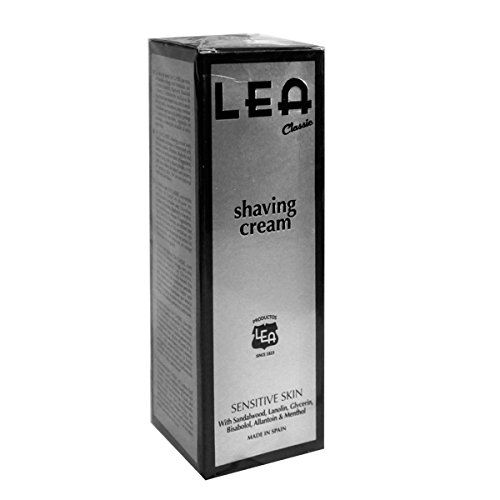 Price comparison product image LEA Classic Shaving Cream Tube for Sensitive Skin,  Sandalwood and Moss,  100g