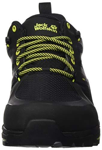 Jack Wolfskin Force Striker Texapore Low M Rise Senderismo Zapatos, negro / lima, 13