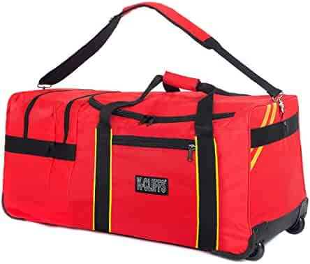 c431d39517c477 Rolling Firefighter Gear Bag Fireman Equipment Duffel with Wheels Paramedic  Wheeled Travel Bags Helmet Pocket