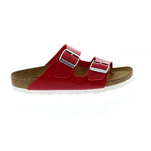 Birkenstock Arizona Narrow Fit - Patent Tango Red 1005283 (Man-Made) Womens Sandals 43 EU by Birkenstock (Image #2)