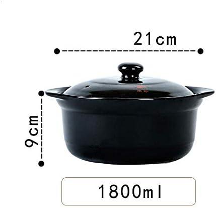 UWY Ustensiles de Cuisine Casserole en Terre Cuite - Casserole à Soupe Saine Pot à ragoût en Pierre - 1,8 L