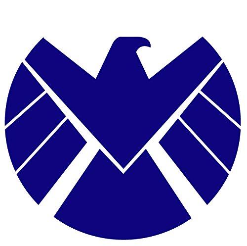 ANGDEST Marvels Agents Shield (NAVY BLUE) Waterproof Vinyl Decal Stickers Laptop Phone Helmet Car Window Bumper Mug Tuber Cup Door Wall Decoration