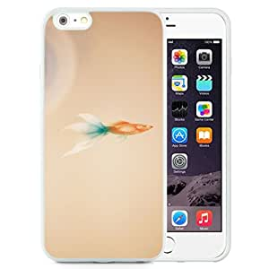 New Pupular And Unique Designed Case For iPhone 6 Plus 5.5 Inch With The Pure Goldfish White Phone Case
