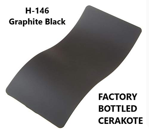 CERAKOTE H-Series Factory Bottled - Baked Firearm Coating Available - 118 ml (4 OZ Bottle) (H-146: Graphite Black) ()