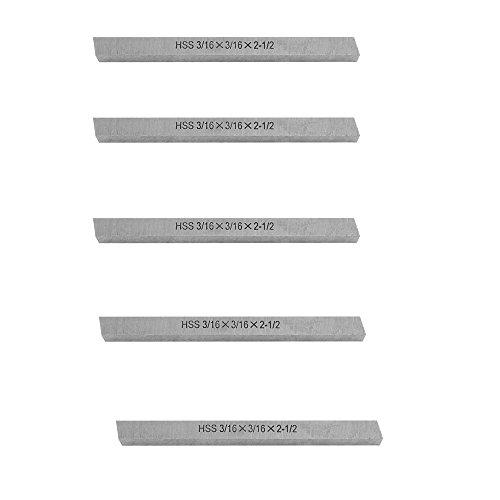 PROLINEMAX 5 Pc 3/16'' x 3/16'' x 2-1/2'' HSS Square Tool Bit Lathe Fly Cutter Mill Blank ()