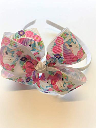 Girls Unicorn Headband Unicorn Hair Bow Unicorn Hair Accessory