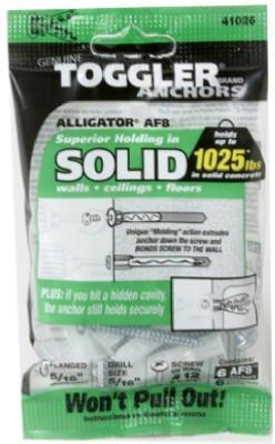 Mechanical Plastics 50490 Alligator Masonry Anchors, Flanged, 5/16-In, 6-Pk. - Quantity 10