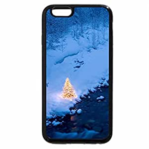 iPhone 6S / iPhone 6 Case (Black) small christmas tree by a wonderful river