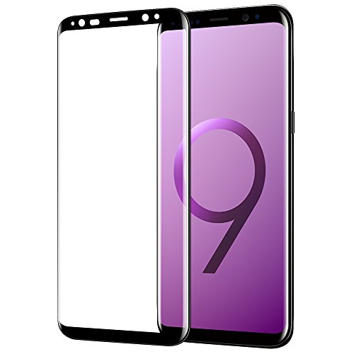 Galaxy S9 Screen Protector, Highwings S9 Tempered Glass Full Coverage 3D Curved High Definition Ultra Clear Film Anti-Bubble Screen Protector for Samsung Galaxy S9 5.8 (2018)-Black
