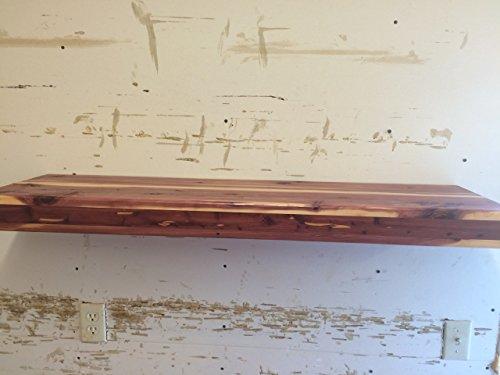 Floating shelf, cedar shelf, bookshelf, wooden shelf