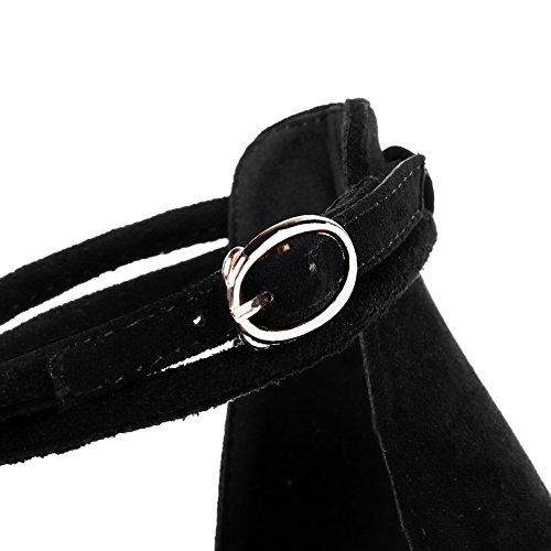 ASL04967 huarache de BalaMasa negras estilo para estilo de con uretano punta baguette dedo Sandalias mujer fgtOqwxSx