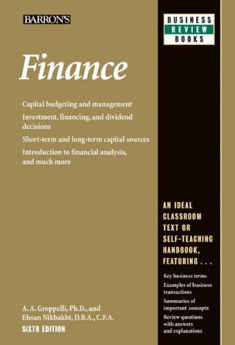 Finance (Barron's Business Review Series)