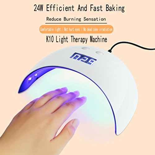 LANDFOX LED Drying Curing Machine Tool USB 24W UV Nail Dryers Light Lamp Polish Gel