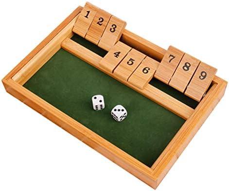 Toyvian 9 Número Cierre la Caja Dados Juego de Mesa Juguete para niños y Adultos KTV Bar Drink Props: Amazon.es: Juguetes y juegos