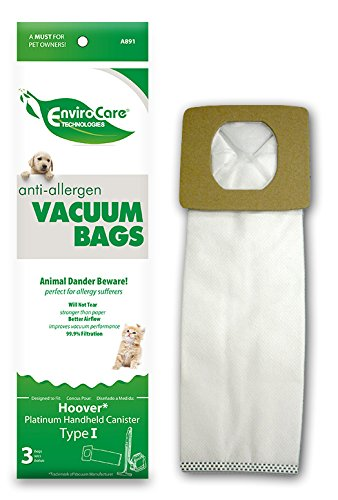 EnviroCare Replacement Anti-Allergen Vacuum Bags for Hoover Type I Canisters 3 ()