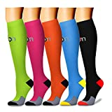 Compression Socks (5 Pairs)15-20 mmhg is BEST Graduated Athletic & Medical for Men & Women, Running, Travel, Nurses, Pregnant - Boost Performance, Blood Circulation & Recovey(Small/Medium, Assorted 3)