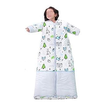 IYHFXVCBD Saco de Dormir del bebé Bosque de Animales, Saco de Dormir Acolchado de algodón Puro, ...