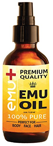 "Premium Quality Emu Oil for Hair Growth, Grade""A"" Australian Emu Oil for Face, for Body, 100% Pure for Scars, for Acne and Even for Pain! - Amazing Natural Remedy - Nourishes Your Thirsty Skin. 4 Oz."