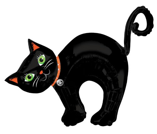 Mayflower Distributing Halloween Cat Jumbo Foil Balloon - 1