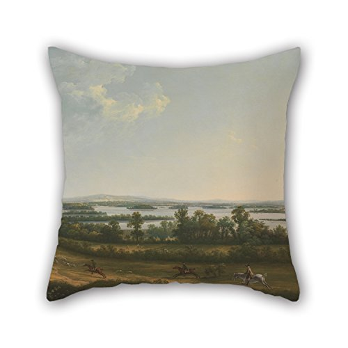 Alphadecor Oil Painting Thomas Roberts - Lough Erne From Knock Ninney, With Bellisle In The Distance, County Fermanagh, Ireland Cushion Cases Best For Boy Friend Monther Home Saloon Gf Coffee - Ireland Tortoise Sale For