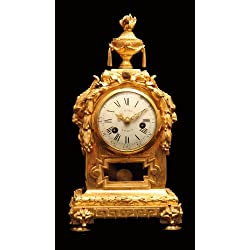 An Amazing 18th Century, Louis XVI French Ormolu (Gold Plated Bronze) Mantel Clock, Museum Quality, Circa 1770 !!