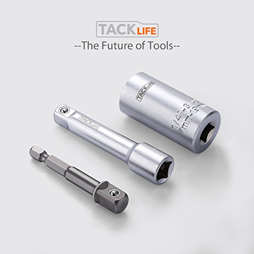 Universal-Socket-Tacklife-3Pcs-N-in-1-Multi-function-14-34-7mm-19mm-Socket-Wrench-Set-with-Chrome-Vanadium-Steel-Metric-Wrench-Power-Drill-Adapter-Socket-Professional-Repair-Tools-ASW01A