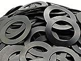 (200) Neoprene Rubber Washers 3'' OD x 2'' ID x 1/16'' Thickness