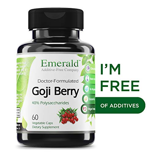 Goji Berry - Anti-Aging & Skin Health - Supports Immune System Function, Liver Detox, Increased Energy, Helps Stabilize Blood Sugar - Emerald Laboratories (Fruitrients) - 60 Vegetable Capsules