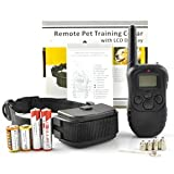 Remote Pet Trainer LCD display Dog Electric Training Collar With Controller , 100 Level Shock and Vibration