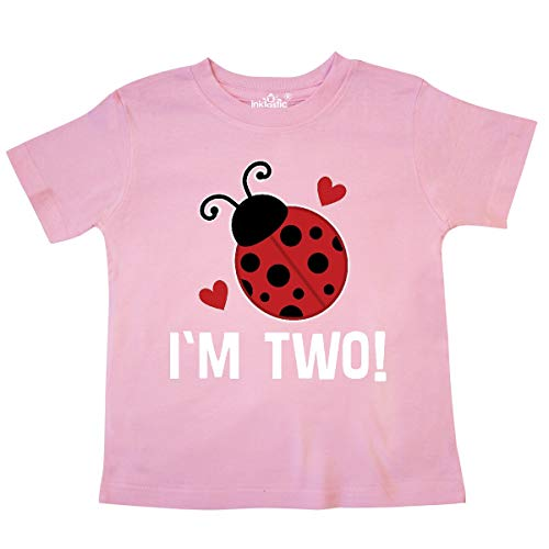 - inktastic - 2nd Birthday 2 Year Old Ladybug Toddler T-Shirt 4T Pink 33748