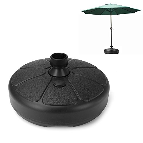 IPRee 38mm Outdoor Garden Beach Umbrella Stand Plastic Parasol Base Patio Furniture (Umbrella Base Plastic)