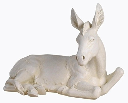39'' Joseph's Studio Seated Donkey Outdoor Christmas Nativity Statue by Roman