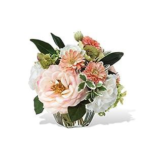 Peaches & Cream Silk Flower Arrangement 24