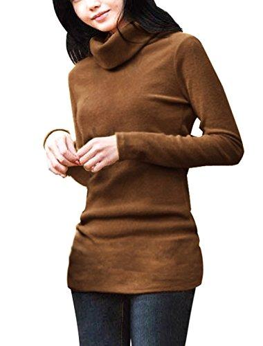 Allegra K Women Turtleneck Long Sleeve Fitted Knit Shirt Tunic...